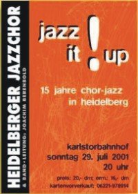 Plakat Konzert am 29.07.2001